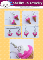 Ice Cream Cone Earrings by Shelby-JoJewelry