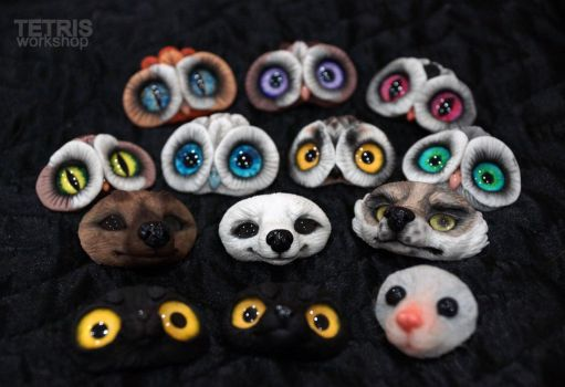 WIP: faces for toys by KrafiCat