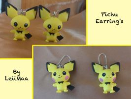 Pokemon Pichu Earrings by LeiiMaa
