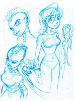 Random Girls_sketches by tombancroft