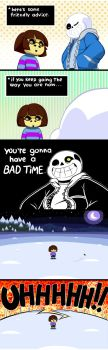 Quicklag/ Sans's advice/ Undertale by Ransaros