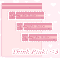 Think Pink - Background and Buttons by SakuragiGN