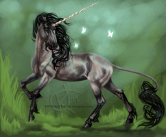 Gray Unicorn by Twilight-Veil
