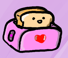 Toast in a toaster (You don't saaaaay? -_-) by Ueggeu