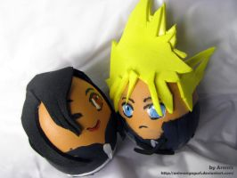 Cloud and Tifa egg by Animangagurl