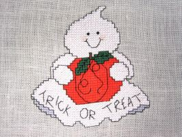 Trick or Treat cross stitch by merrywether