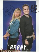 Ashleigh Ball And Brent Hodge Autographed Poster by xxXSketchBookXxx