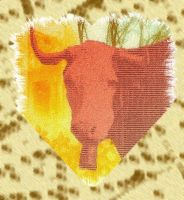 Lobotomic Cow into Heart. by olones