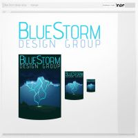 blue storm logotype by inde-blokcrew
