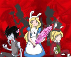 Adventure Time in American McGee's Alice by knightaur
