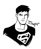 Superboy [lines] by RyanJampole