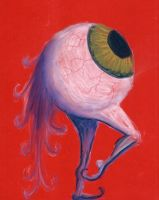 eyeball on red by uxoricidal
