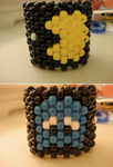 Pac Man and Ghost Cuff by amyswlee
