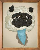 Nothing but a Pug in a turtle neck by paulorocker