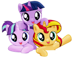 Three happy fillies by SunsetMajka626