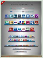 Social Networks Pro Icons by artbees