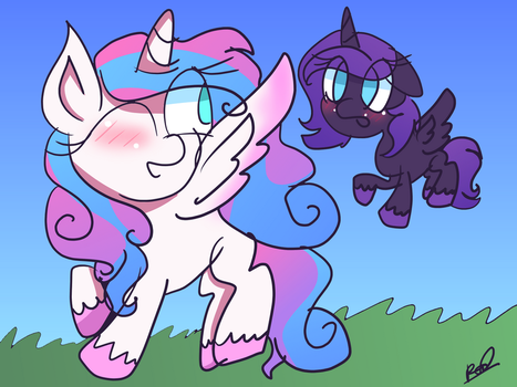 Flurry Heart and Nyx Sparkle (Tumblr Request) by RubyG242