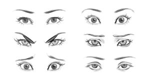 Eye Expressions Reference by gabbyd70