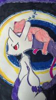 New Mewtwo and mew by Infinite-hope64
