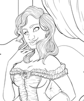 Work in Progress : Commission Inking by RuthMcGleish