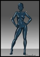 LIVING LATEX CATSUIT 03 by ALeksecond