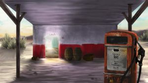 Old gas station by greenwindstudio