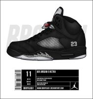 Air Jordan 5 Retro 'Metallic' by BBoyKai91