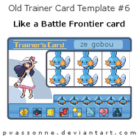 Old Trainer Card Template 6 by pwassonne