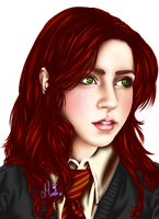 Lily Evans Redrawn by Tsuki-Yue