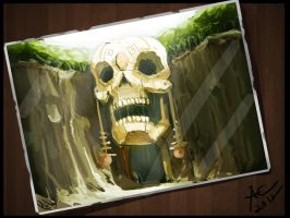 skull temple by CosTA-S