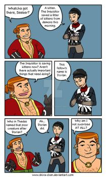 Dragon Age: Inquisition - Inquisitor's Kitties P1 by Shira-chan