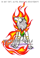 Sepla - Proud Fire Wolfess by WildSpiritWolf