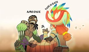 Monster Hunter - Ambone vs Inkoseh by macawnivore