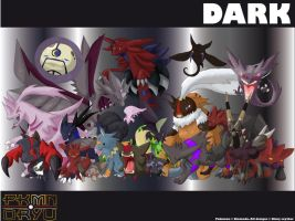 Oryu wall: Dark type by shinyscyther