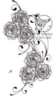 Verity's Roses Two Tattoo by Imkihca