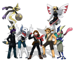 commish_pokemon team by pitch-black-crow