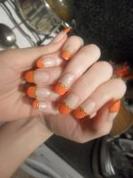 Orange Jewels by NailedItWithGlitter