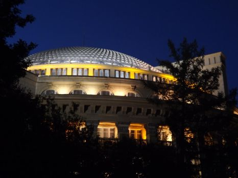 Night Novosibirsk Opera Theatre by Aby-of-N-city