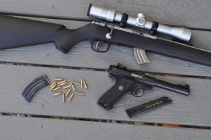 Savage Mark II and Ruger Mark II Target by ComradeSniper