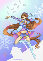 Winter dancing priestess Mahel [commission] by SpigaRose