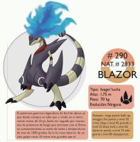 pokemon Oryu 290 Blazor by shinyscyther