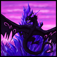 Dark Crystal Dragon by Niicchan