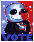 Sans for President by Domestic-hedgehog