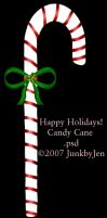 Painted Candy Cane Stock by JunkbyJen