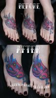 Fix up - Sparrow on foot by SmilinPirateTattoo