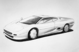 Jaguar XJ220 Sketch by Anths95