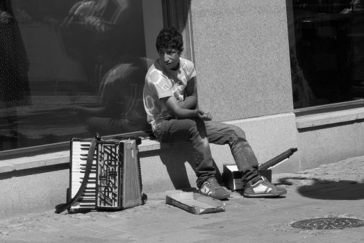 Accordionist by Metrophades