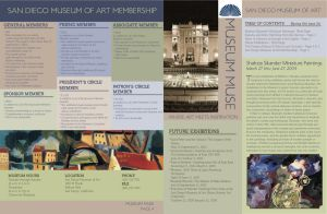 San Diego Museum of Art Newsletter Front and Back by nenglehardt