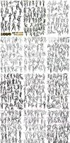 Draw 1000 - 10 second figure drawings #1-500(+1) by leapingloophead