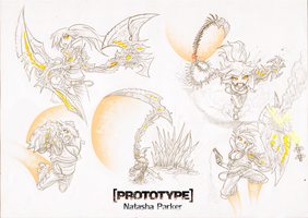 [PROTOTYPE] Girl - Action Poses Sketches by FrancoTieppo